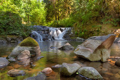 Waterfall along Sweet Creek in Oregon Royalty Free Stock Image