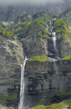 Waterfall, the Alps Royalty Free Stock Images