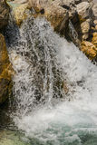 Waterfall in alps Stock Photography
