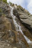 Waterfall in Altay mountains. Beautiful nature landscape. Popular touristic distination royalty free stock photography