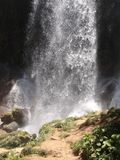 Waterfall. Amazing waterfall inside mountains in a place known as El Nicho, Cuba Stock Photography