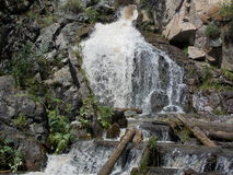 Waterfall. Ancient small waterfall in the Altai mountains Royalty Free Stock Image