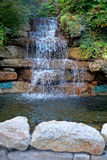 Waterfall And Pond Landscaping Royalty Free Stock Photo
