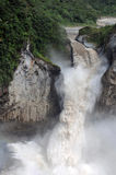 Waterfall in the Andes stock photo