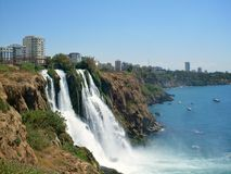 Waterfall in Antalya. Waterfall Duden in Antalya, Turkey Stock Photography