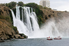 Waterfall in Antalya. Falls from a cliff in Antalya Stock Photo