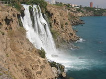 Waterfall in Antalya, Turkey royalty free stock photography