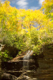 Waterfall in the Appalachians stock image