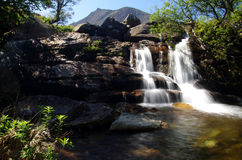 Waterfall on Arran, Scotland. A photo of a waterfall on Arran , Scotland Royalty Free Stock Images