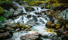 Waterfall, Arrochar alps, Scotland. Waterfall at the base of the Arrochar alps in Western Scotland, around the head of Loch Long and Loch Fyne. Taken at dusk Stock Photos