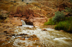 Waterfall At Capital Reef National Park Royalty Free Stock Photography