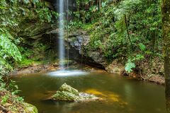 Free Waterfall At Sossegada Tourist Complex, Capitólio MG Brazil Royalty Free Stock Photos - 212704578
