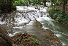 Waterfall At The Monasterio De Piedra Royalty Free Stock Photo