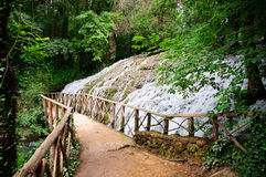 Waterfall At The Monasterio De Piedra Royalty Free Stock Photo