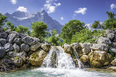 Waterfall in the Austrian Alps Royalty Free Stock Photos