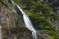 Waterfall in Austrian Alps, Salzburger Land Stock Photo