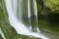 Waterfall in Autoire Royalty Free Stock Photography