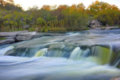 Waterfall on autum river Stock Images