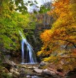 Waterfall in the autumn-2 Stock Photos