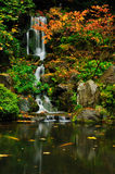 Waterfall and autumn colors Royalty Free Stock Photography