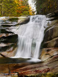 Waterfall Autumn Forest Stock Image