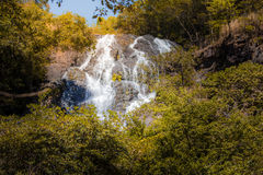 Waterfall in autumn forest at Salika waterfall national park in Thailand. Stock Images