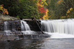 Waterfall in Autumn royalty free stock photos