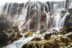Waterfall in the autumn Royalty Free Stock Image