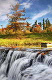 Waterfall, Autumn, Landscape, Colours Stock Images