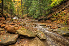Waterfall In Autumn stock image
