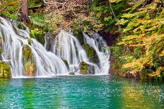 Waterfall Autumn Scenery Stock Photography