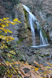Waterfall in autumn Stock Photography