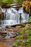 Waterfall in Autumn - Michigan, USA Stock Photography