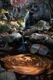Waterfall autumn whirl Stock Photos