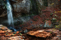 Waterfall autumn whirl Royalty Free Stock Image