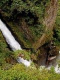 Waterfall. Baños ecuador jungle river trail tropical Royalty Free Stock Photography