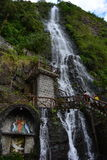 Waterfall in Baños, Ecuador. Waterfall in the town of Baños, Ecuador stock photo