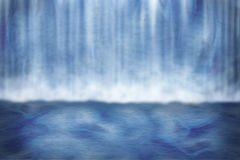 Waterfall Background. Dark Blue Waterfall Background Image Vector Illustration