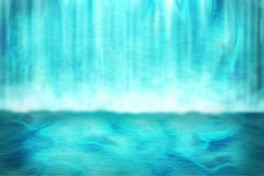 Waterfall Background. Tropic Blue Waterfall Background Image Stock Illustration