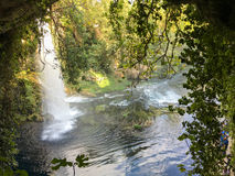 Waterfall background. At naturel amazing place Royalty Free Stock Images
