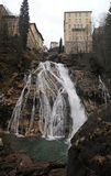 Waterfall at Bad Gastein in Alps mountains Stock Photos