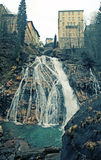 Waterfall at Bad Gastein in Alps mountains Royalty Free Stock Photos