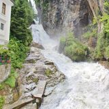 The waterfall in Bad Gastein, Austria Stock Photography