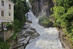 The waterfall in Bad Gastein, Austria Royalty Free Stock Photos