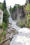 The waterfall in Bad Gastein, Austria Stock Photos