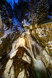 Waterfall in Bad Gastein during winter Royalty Free Stock Photos