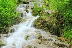 Waterfall of Bad Urach, Germany Royalty Free Stock Images