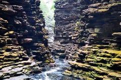 Waterfall in Bahia Brazil. Waterfall Canyon in Chapada Diamantina in Bahia, Brazil Stock Photos