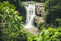 Waterfall in Bali island Royalty Free Stock Images