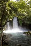 Waterfall Banias in northern Israel Royalty Free Stock Image